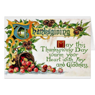 Vintage Thanksgiving Greetings Greeting Card