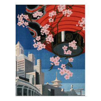Vintage Tokyo travel Postcard