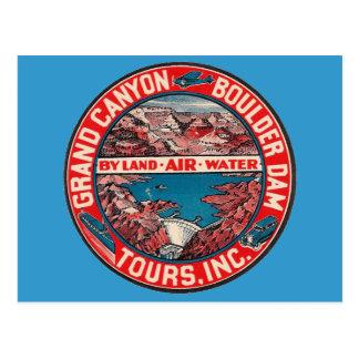 Vintage Travel - Grand Canyon / Boulder Dam Postcard