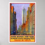 Vintage travel,New York Poster