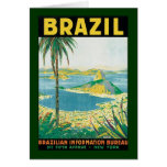 Vintage Travel Rio de Janeiro Brazil Coastal Beach Note Card