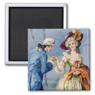 Vintage True Love Lady & Gent Fridge Magnet