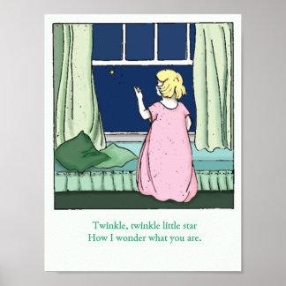 Vintage Twinkle, Twinkle, Little Star Poster