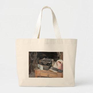 Vintage Type writer in dusty office workshop Jumbo Tote Bag