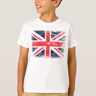 Vintage UK British Flag Kid's T Shirt design.