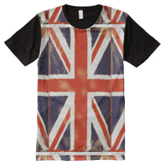 Vintage Union Jack Custom Print T-Shirt All-Over Print T-Shirt