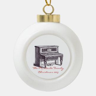 Vintage Upright Piano Ceramic Ball Decoration