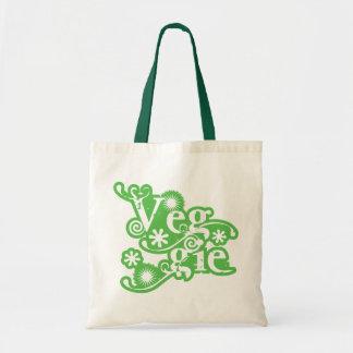 Vintage Veggie © For Vegetarians and Vegans Budget Tote Bag