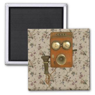 Vintage Victorian Antique Telephone Fridge Magnet