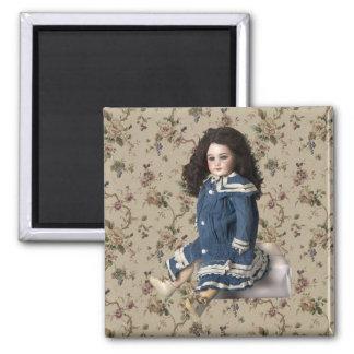 Vintage Victorian Doll Fridge Magnet