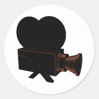 Vintage Video Round Sticker