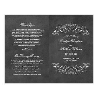 Vintage Wedding Programs   Chalkboard Flourish 21.5 Cm X 28 Cm Flyer