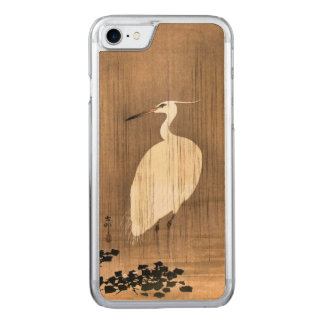 Vintage White Heron in the Rain Carved iPhone 7 Case
