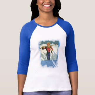 Vintage Winter Sports - Carrying the skis T-shirt