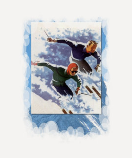 Vintage Winter Sports - Racing down the mountain T-shirt