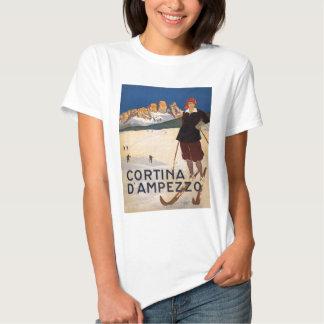 Vintage winter sports, ski poster shirts