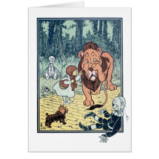 Vintage Wizard of Oz Characters, Yellow Brick Road Greeting Card
