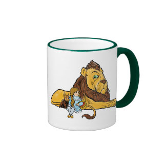 Vintage Wizard of Oz, Dorothy and Toto with Lion Ringer Mug