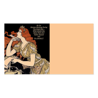 Vintage Woman at Her Writing Desk Pack Of Standard Business Cards