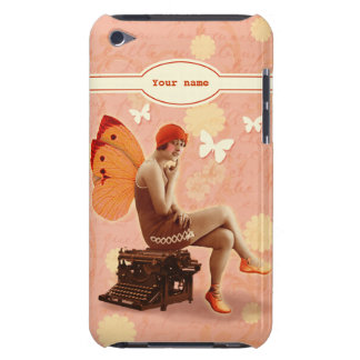 Vintage Writer Fairy with Typewriter iPod Touch Case