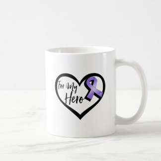 Violet Awareness Ribbon For My Hero Basic White Mug