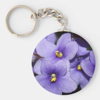 Violet Boquet Basic Round Button Key Ring