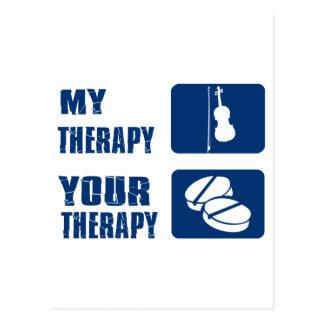 violin therapy design postcard