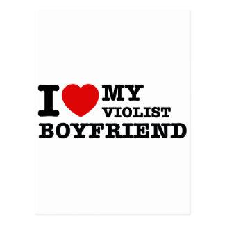 Violist Boyfriend Designs Postcard