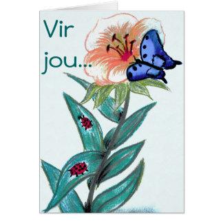 Vir jou - Afrikaanse Groetekaartjie Greeting Card