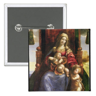 Virgin and Child with the infant St. John 15 Cm Square Badge
