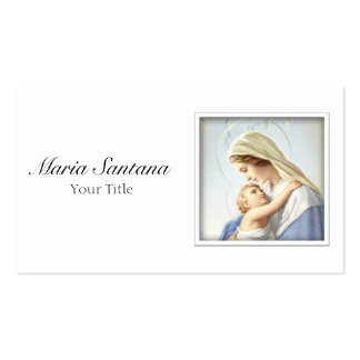 Virgin Mary and Baby Jesus Business Card