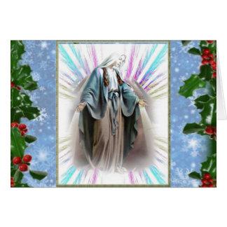 Virgin Mary Christmas cards