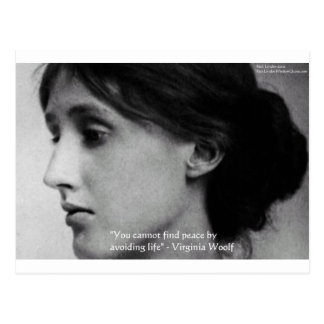 """Virginia Woolf """"Find Peace"""" Wisdom Quote Gifts Postcard"""
