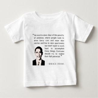 Virtue of hard work, inspirational Barack Obama T-shirts