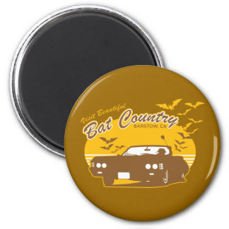 Visit beautiful bat country, barstow, ca 6 cm round magnet