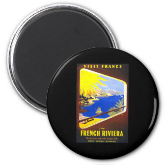 Visit France The French Riviera 6 Cm Round Magnet