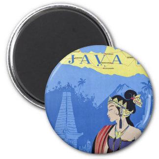 Visit Java 6 Cm Round Magnet