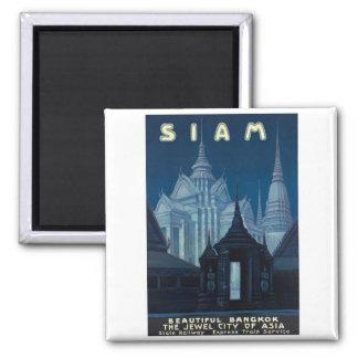 Visit Siam Poster Square Magnet