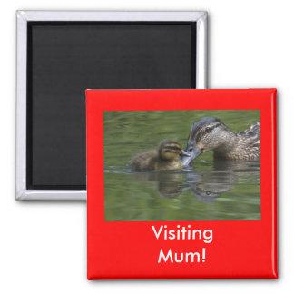 Visiting Mum Magnet
