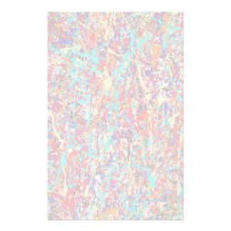 Vivid Paint Splatter Abstract Stationery Design