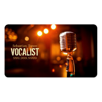 Vocalist, Singer, Performer, Music, Lessons Mic Pack Of Standard Business Cards
