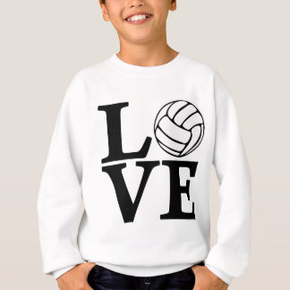 Volleyball LOVE, black Tee Shirt