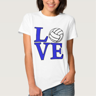 Volleyball LOVE, blue Tshirts