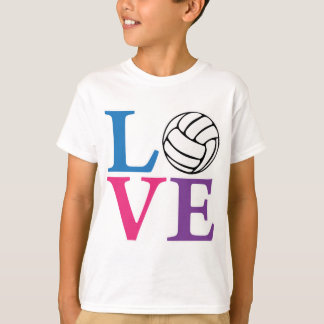 Volleyball LOVE, multi2 T Shirts