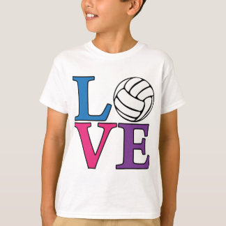 Volleyball LOVE, multi T Shirt