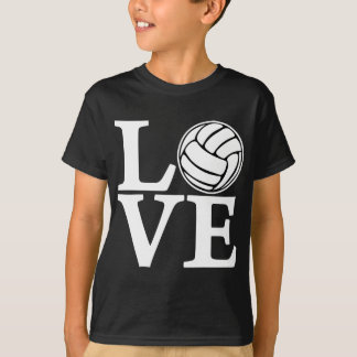 Volleyball LOVE, white Tshirt