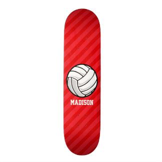 Volleyball; Scarlet Red Stripes 19.7 Cm Skateboard Deck