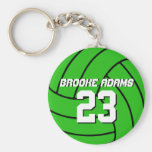 Volleyball Sports Team Keychain Customise Colour