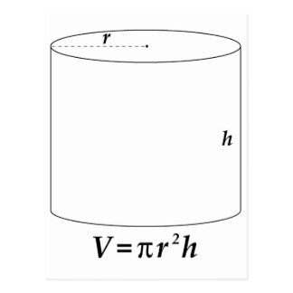 Volume of a Cylinder Postcard