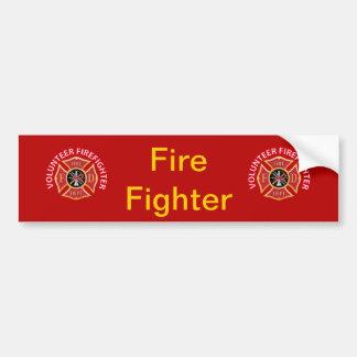 Volunteer Firefighter Maltese Cross Bumper Sticker